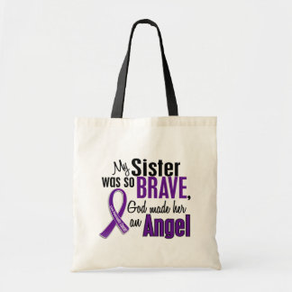 My Sister Is An Angel Pancreatic Cancer Budget Tote Bag