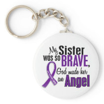 My Sister Is An Angel Pancreatic Cancer Keychain