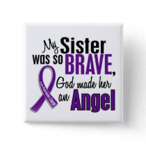 My Sister Is An Angel Pancreatic Cancer Pinback Button