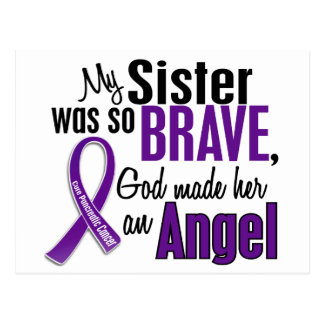 My Sister Is An Angel Pancreatic Cancer Postcard