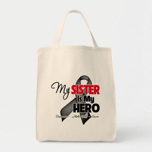 My Sister is My Hero - Skin Cancer Canvas Bags
