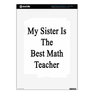 My Sister Is The Best Math Teacher Skins For iPad 3