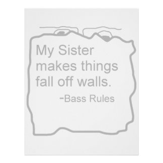 My sister makes things fall off walls bassist gift letterhead