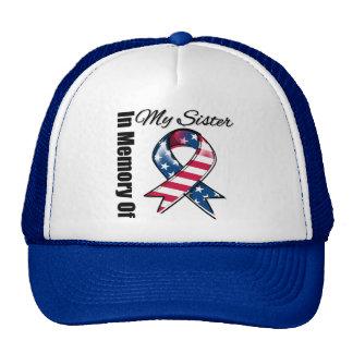 My Sister Memorial Patriotic Ribbon Trucker Hat