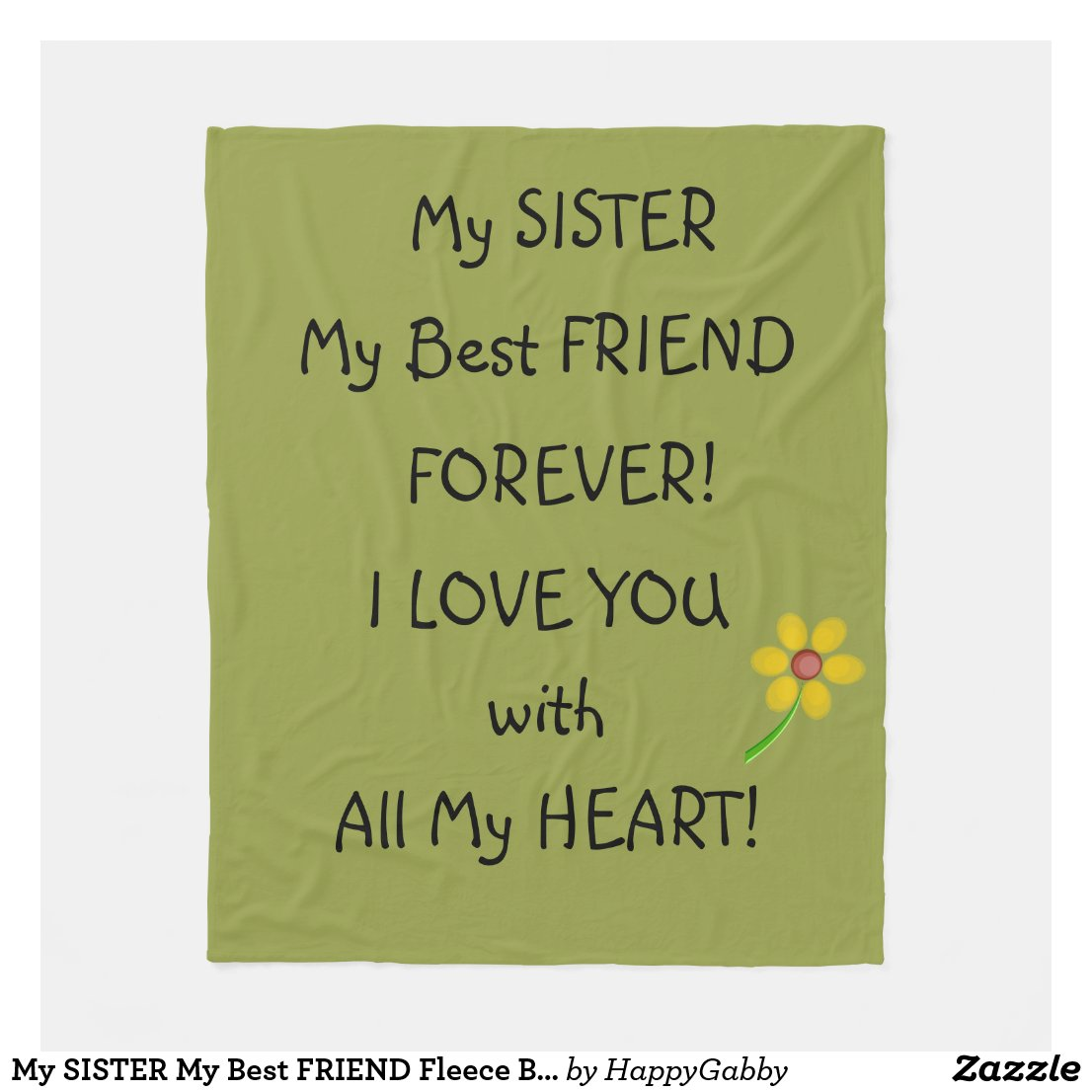 SISTER Fleece Blanket