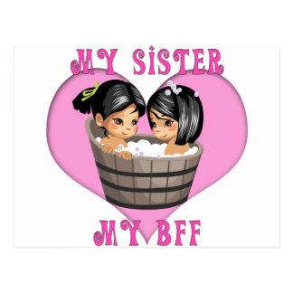 My Sister MY BFF Bath Postcard
