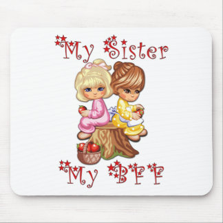 My Sister My BFF Mouse Pad