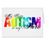 My Sister My Hero - Autism Greeting Card