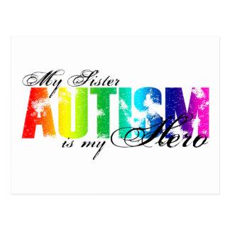 My Sister My Hero - Autism Postcard