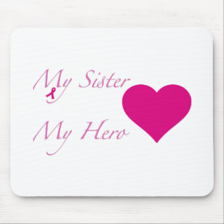 My Sister My Hero - Heart Mousepad