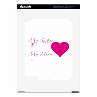 My Sister My Hero - Heart Skin For iPad 3