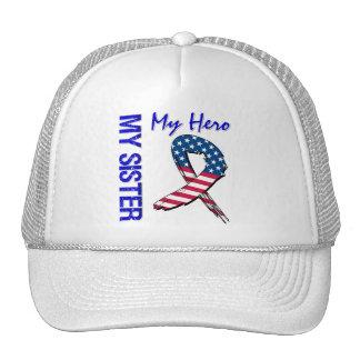 My Sister My Hero Patriotic Grunge Ribbon Trucker Hat