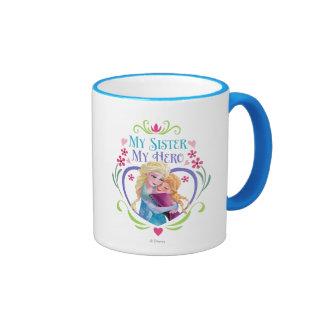 My Sister My Hero Ringer Coffee Mug