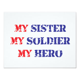My sister, my soldier, my hero announcement