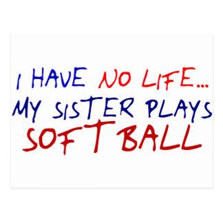 My Sister Plays Softball Postcard