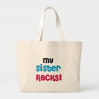 My Sister Rocks Large Tote Bag