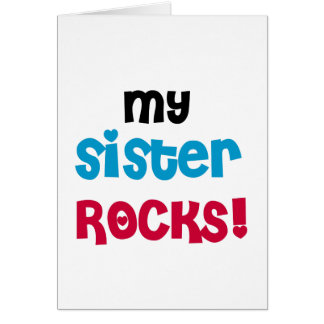 My Sister Rocks T-shirts and Gifts Card