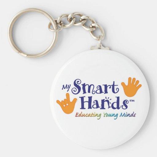 MY_Smart_hands_logo_1[1] Basic Round Button Keychain