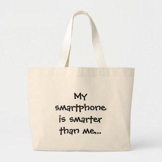 My smartphone is smarter - Senior Citizens Canvas Bag