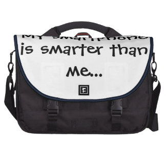 My smartphone is smarter - Senior Citizens Bag For Laptop