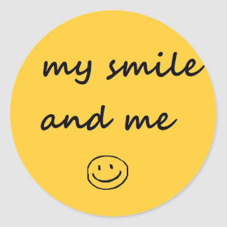 my smile and me classic round sticker