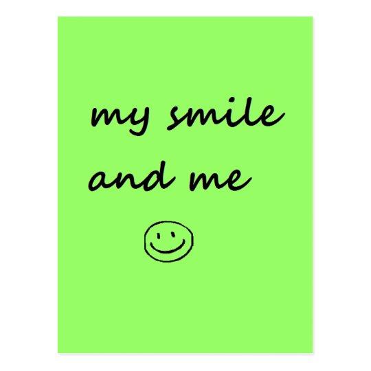 my smile and me postcard