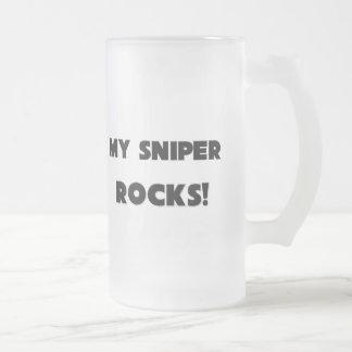 MY Sniper ROCKS! 16 Oz Frosted Glass Beer Mug