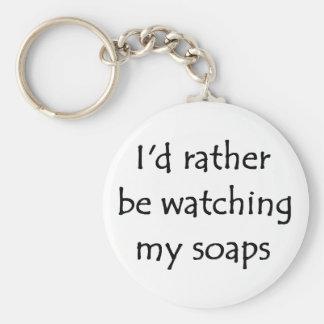 My soaps basic round button keychain