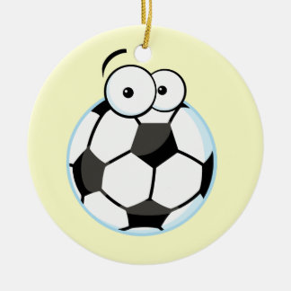 My Soccer Face T-shirts and Gifts Double-Sided Ceramic Round Christmas Ornament