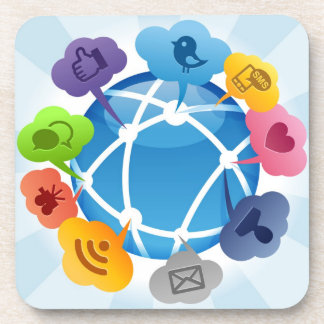 My Social Connections Cork Coaster