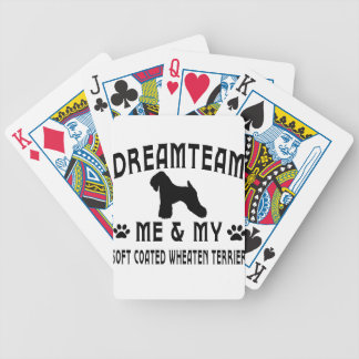 My Soft Coated Wheaten Terrier Dog Bicycle Playing Cards