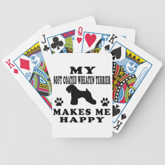 My Soft Coated Wheaten Terrier Makes Me Happy Bicycle Card Deck