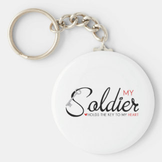 My Soldier Holds the Key to my Heart Keychain