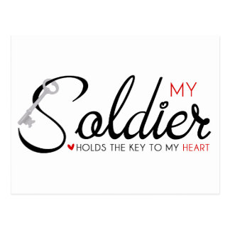 My Soldier Holds the Key to my Heart Postcard