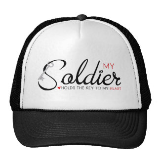My Soldier Holds the Key to my Heart Trucker Hat
