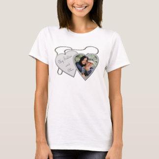 My Soldier & Me Hearts Custom Photo Ladies Shirt