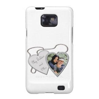 My Soldier & Me Hearts Custom Photo Samsung Galaxy Samsung Galaxy S2 Cases