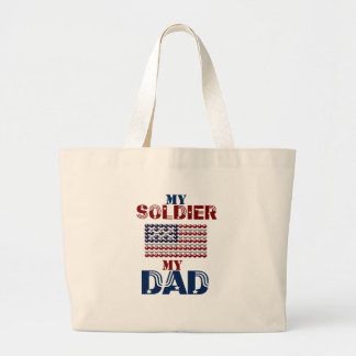 My Soldier My Dad Tote Bags