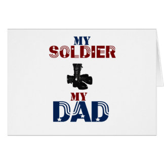 My Soldier My Dad Boots Card