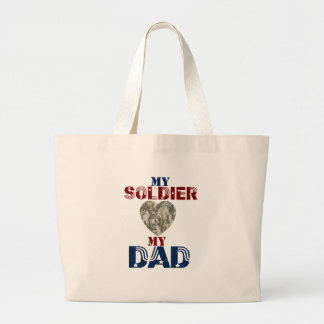 My Soldier My Dad Camoheart Canvas Bag