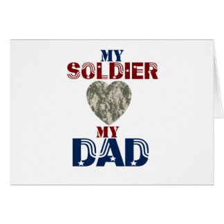 My Soldier My Dad Camoheart Card