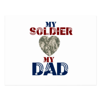 My Soldier My Dad Camoheart Postcard