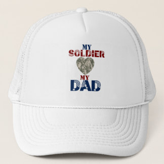 My Soldier My Dad Camoheart Trucker Hat