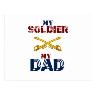 My Soldier My Dad Cav Postcard