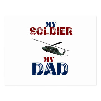 My Soldier My Dad Hellacopter Postcard