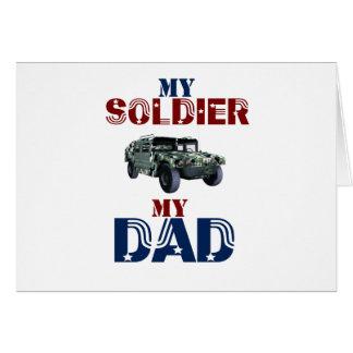 My Soldier My Dad Hummer Card