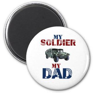 My Soldier My Dad Hummer Magnet