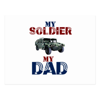 My Soldier My Dad Hummer Postcard