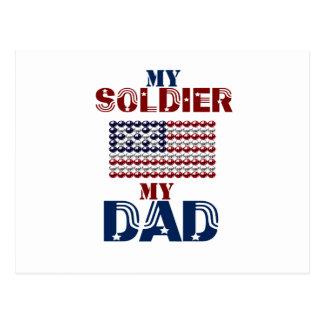 My Soldier My Dad Postcard
