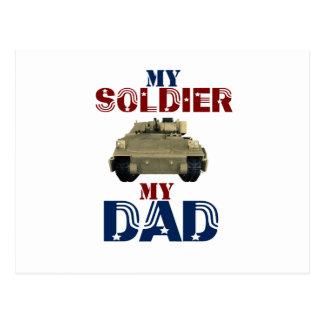 My Soldier My Dad Tank2 Postcard
